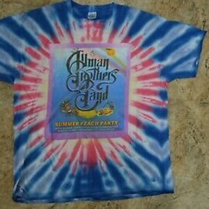 XL Allman Brothers Band 2002 Tie Dye